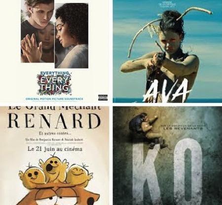 ava2018,bad-buzz,baywatch,des-plans-sur-comete,everything-everything,ex-morino,grand-mechant-renard,it-comes-at-night,ko-dunckel,manoir, - Quelles musiques dans les films sortis le 21 juin 2017 ?