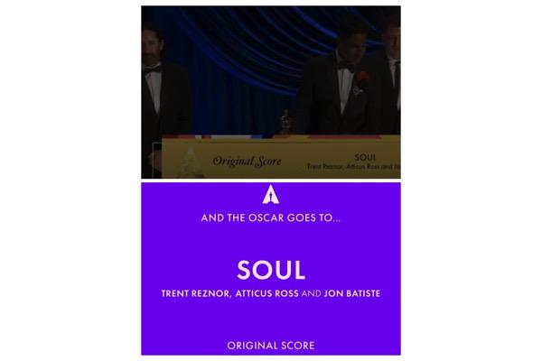 Oscars 2021 : Trent Reznor, Atticus Ross, Jon Batiste, lauréats pour la musique de SOUL